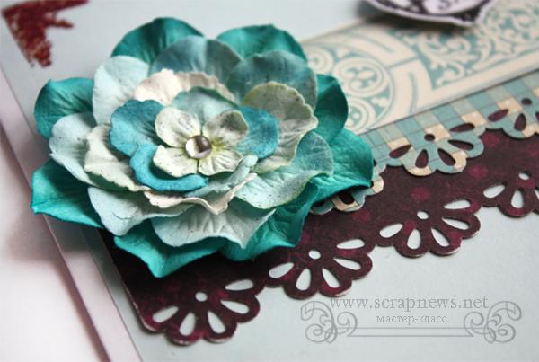 Бумажный цветок мастер класс