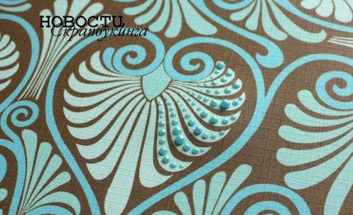 Инкрустация бумаги декоративным контуром