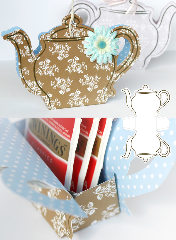Открытка в форме чайника