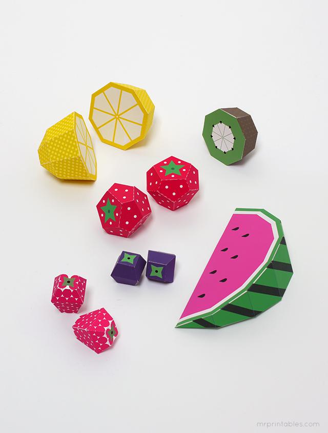 Как сделать поделки из бумаги фрукты